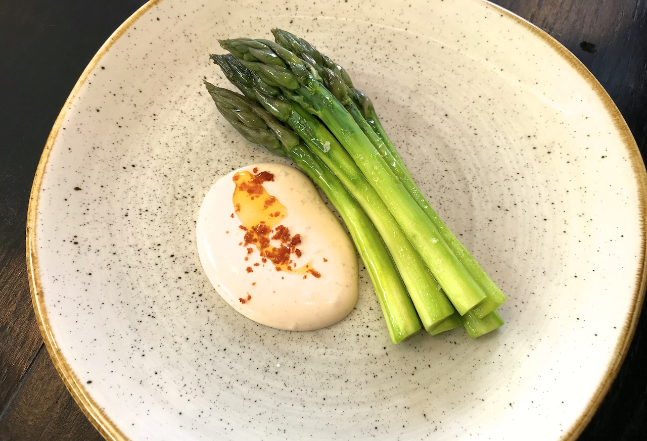 c6e4fe6ede On to the next dish, sliced cured monkfish, topped with little dots of  punchy lime pickle puree, coconut yoghurt crème, some grated lime zest,  coriander, ...